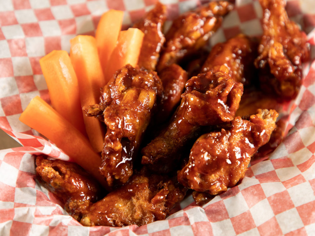 Great Food - Your Table is Here - Deer Lake Motel - Tasty Chicken Wings
