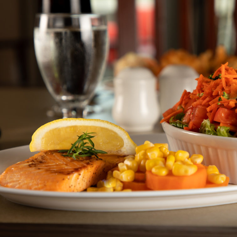 Great Food - Your Table is Here - Deer Lake Motel - Fresh Atlantic Salmon