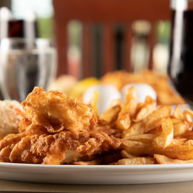 Great Food - Your Table is Here - Deer Lake Motel - Fresh Fish and Chips